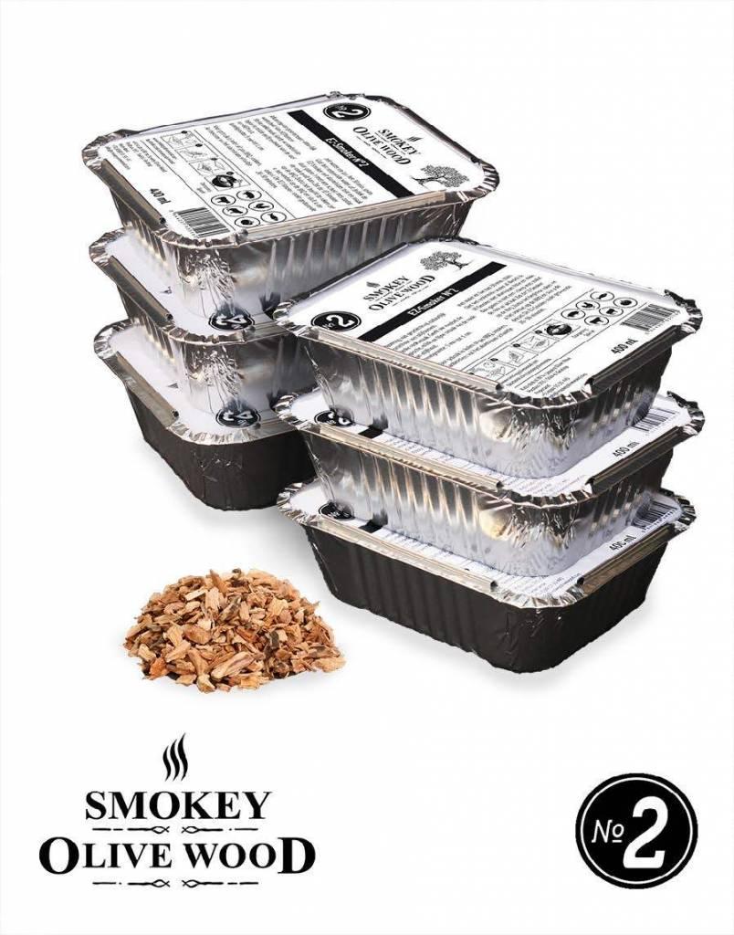 Smokey Olive Wood Smokey Olive Wood Smoking chips Nº2 EZ-Smoker (6x 400 ml)