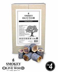 Smokey Olive Wood Chunks van de steeneik Nº4 - 5 kg