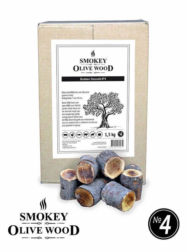 Smokey Olive Wood Smokey Olive Wood Chunks van de steeneik Nº4 - 5 kg