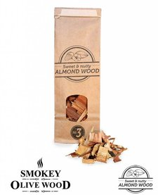 Smokey Olive Wood Amandelhout Chips Nº3 - 500 ml