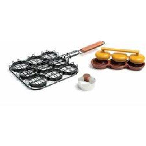 Charcoal Companion Non-Stick Deluxe Mini-Burger Set