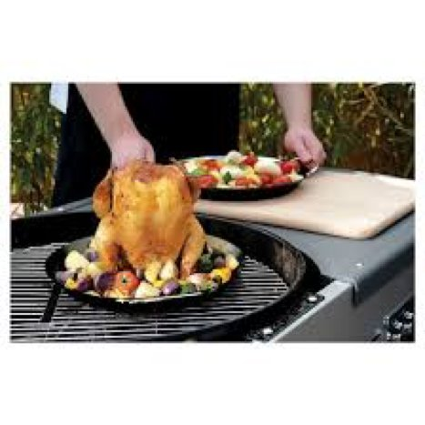 Charcoal Companion Flame-Friendly™  Ceramic Chicken Roaster