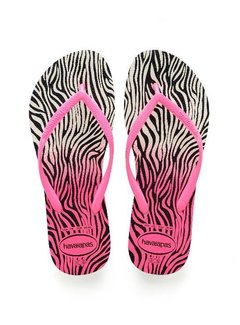 Havaianas SLIM ANIMALS 4103352.8519   white/shocking pink