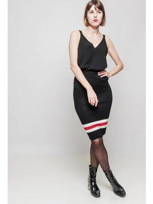SKIRT RED STRIPE G803 | black