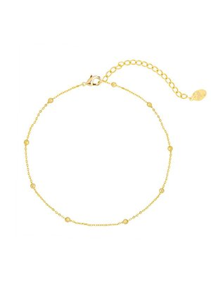 ANKLET LITTLE BEADS | gold