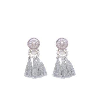 Earrings Festive Tassel | grey