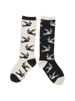 CarlijnQ knee socks love birds KS77
