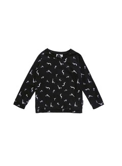 Sproet&Sprout T-Shirt Longsleeve Bugs Letters Black
