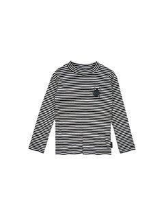 Sproet&Sprout T-Shirt Turtle Neck Beetle Black & Milk Stripe