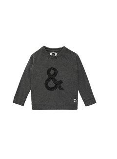 Sproet&Sprout Sweater Raglan & Sign Dark Grey Melee