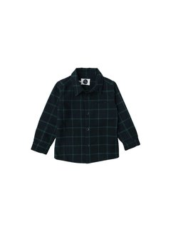 Sproet&Sprout Shirt Check Black with Forrest Green