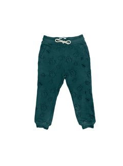 Sproet&Sprout Sweat Pants Bugs Allover Dark Forrest Green