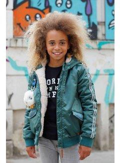 Moodstreet Bomberjack coat girls M807-5203   GREEN