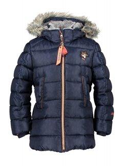 NoNo Benthe animal AOP half long jacket N807-5202 | C110 navy