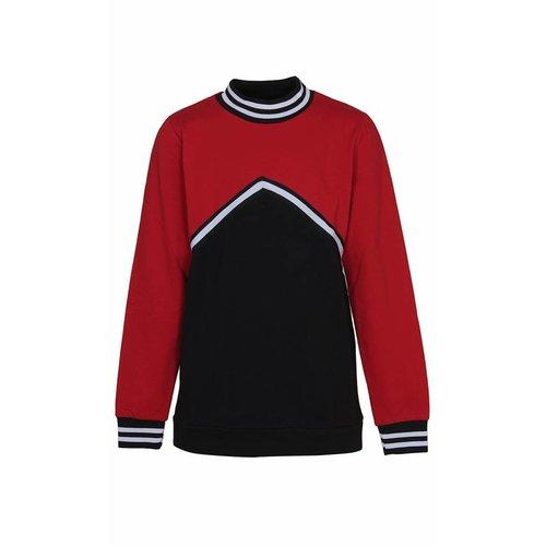 D-XEL knit blouse 4407517   tango red