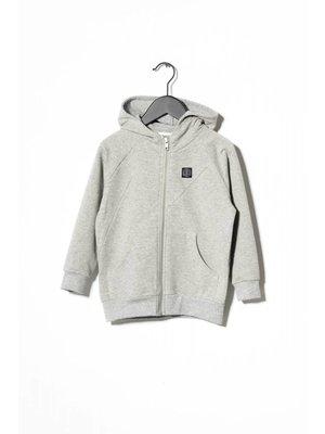 Sometime Soon Pelle Zip Hoodie 70130402 | Grey Melange
