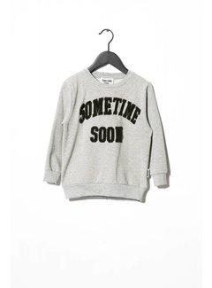 Sometime Soon College Crewneck 70130374 | Grey Melange