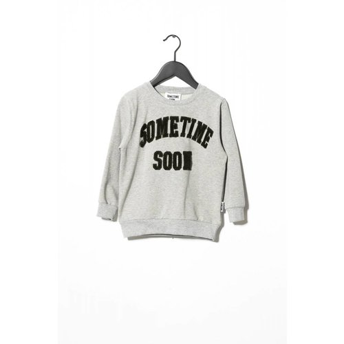 Sometime Soon College Crewneck 70130374 | Grey Melange