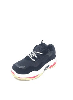 Chunky sneakers | black/red