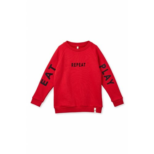 Popupshop Basic sweat text 1049_182 | haute red