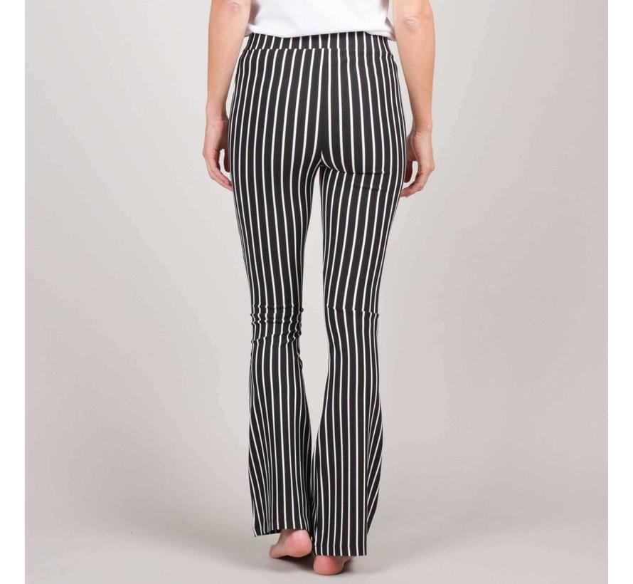 5147 - Fay structure stripe flare pants