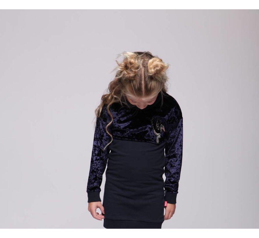 45-1117 Sweat dress NVY