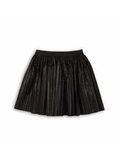 MINOTI PLEATED PU SKIRT | black