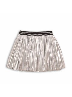 MINOTI PLEATED FOIL SKIRT | silver