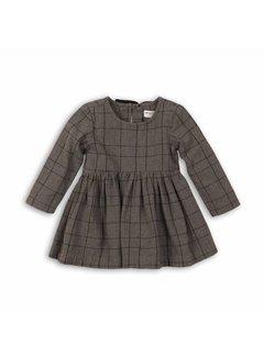 MINOTI CHECKED SMOCK DRESS