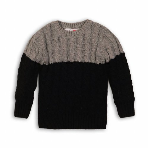 KNITTED JUMPER DARK GREY