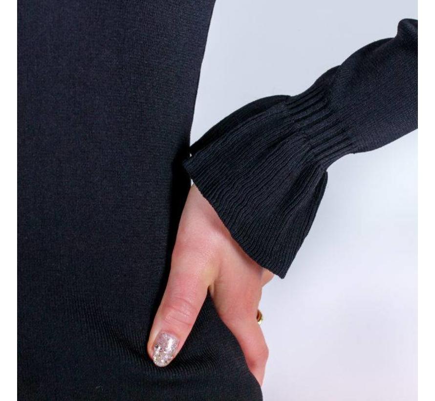 5369 - BLACK KNIT DRESS