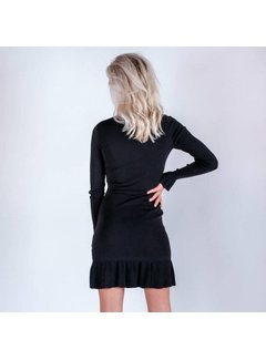 Colourful Rebel 5369 - BLACK KNIT DRESS