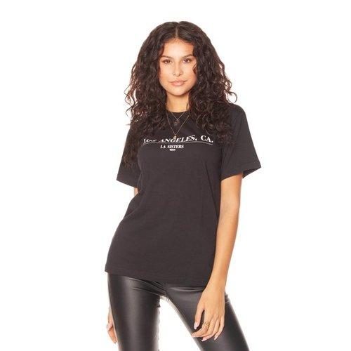 LA SISTERS 90210 TEE | black
