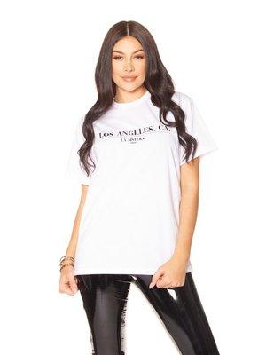 LA SISTERS 90210 TEE | white