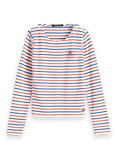 Scotch R'Belle Long sleeve 148030 | white/stripe