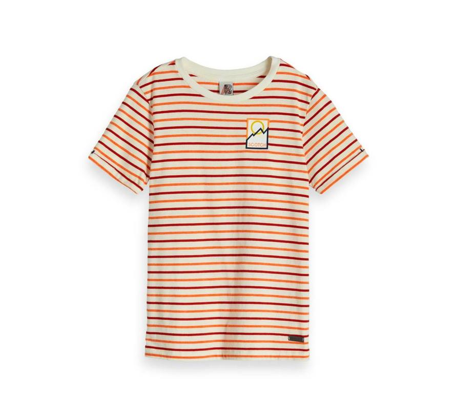 T-SHIRT 150418 | 21 offwhite/red