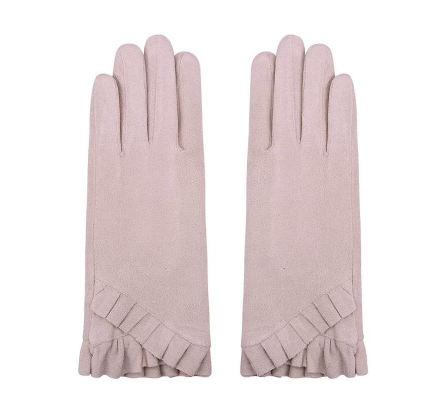 Gloves Pleated Waves