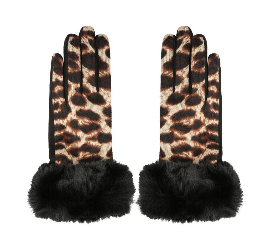 Gloves Leopard & Fur