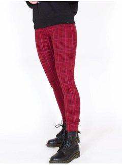 Colourful Rebel 6025 - LARA CHECK PANTS RED