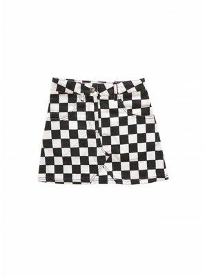 AMMEHOELA Woven Block Skirt