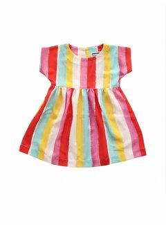 AMMEHOELA Woven dress Rainbow