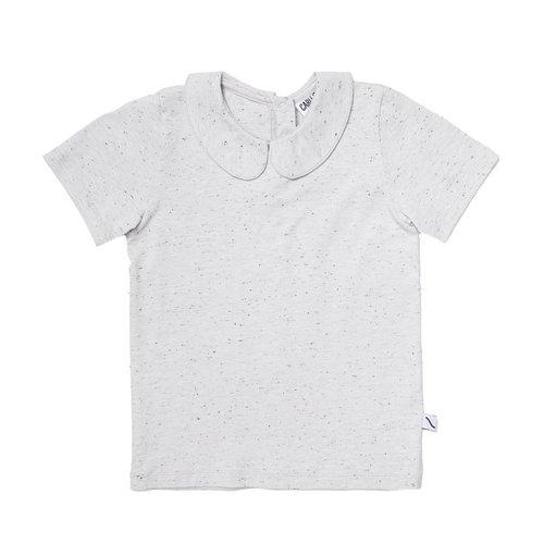 CarlijnQ BAG69 basics grey - shirt with collar