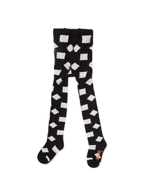 CarlijnQ TI91 tights - checkers black / off-white