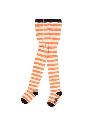 CarlijnQ TI89 tights - stripes peach / off-white