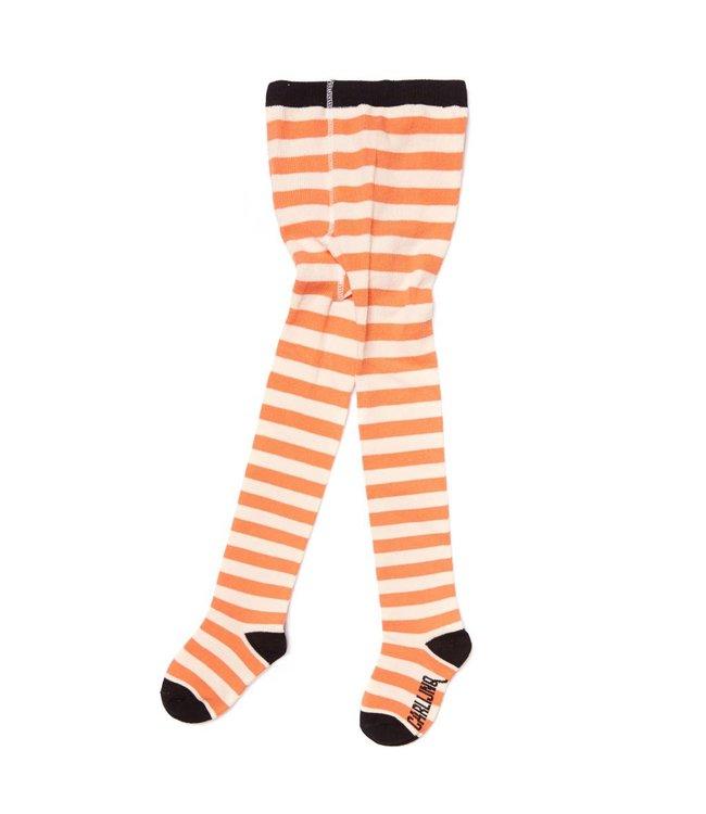 TI89 tights - stripes peach / off-white
