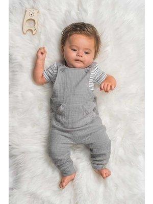 jollein SALOPETTE | cotton wrinkled grey