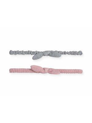 jollein HAARBAND | wrinkled grey/pink