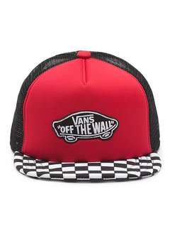 VANS BY CLASSIC PATCH TRUCKER PLUS BOYS | racing red