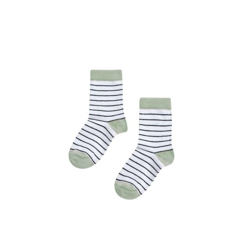 MINGO Socks | mint/b/w stripes