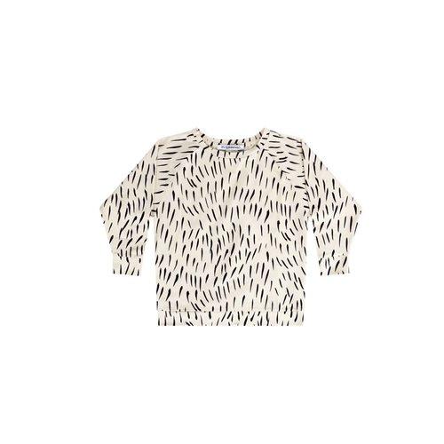 MINGO Longsleeve jersey | fur print ecru/black
